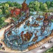 Walibi Holland: Artwork e plastico Splash Battle