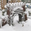 Italia in Miniatura: curiose immagini con la neve
