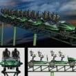 """Liseberg: i treni di """"Projekt Helix"""" e il design della stazione d'imbarco"""