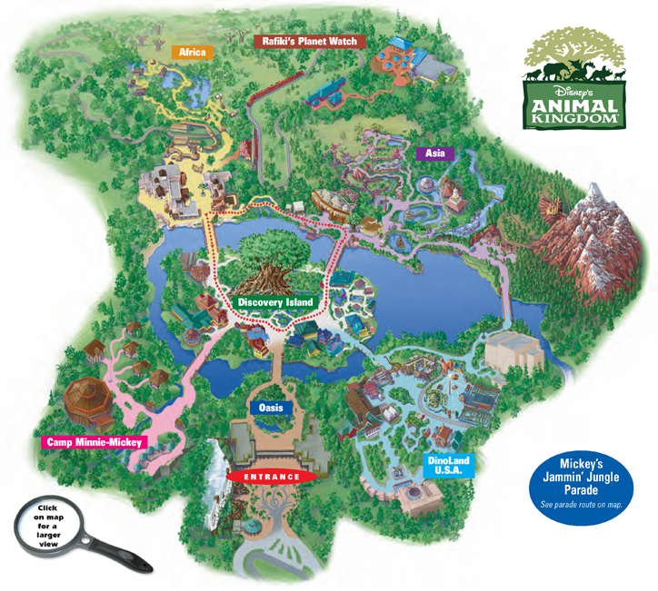 Disney Animal Kingdom Map 2014