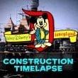 disneyland time lapse costruzione