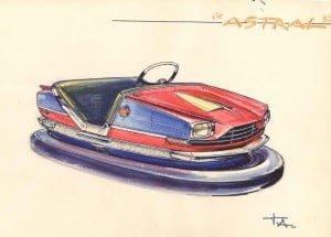 tamagnini armando Bozzetto preliminare di vettura per Autoscontro